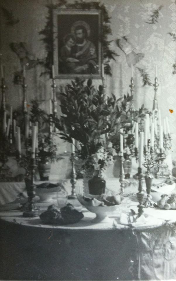 vecchio altare famiglia Orlando ANNI 54 (foto DOMINIC ORLANDO)